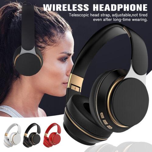 Faltbarer Kabellos Bluetooth-Kopfhörer Stereo Bass Over Ear Headset mit Mikrofon