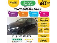 2016 BLACK VW GOLF 2.0 TDI 184 GTD DIESEL MANUAL 5DR HATCH CAR FINANCE FR £62 PW