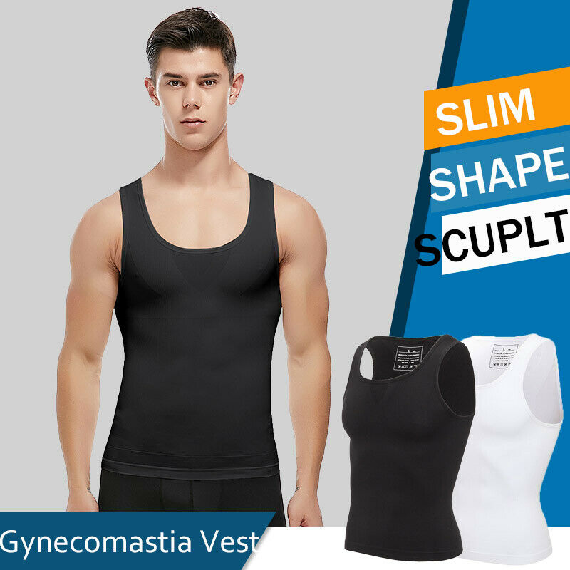 Männer Bauchweg Shirt Shapewear Figurformende Unterhemd Kompression Tank Top HOT