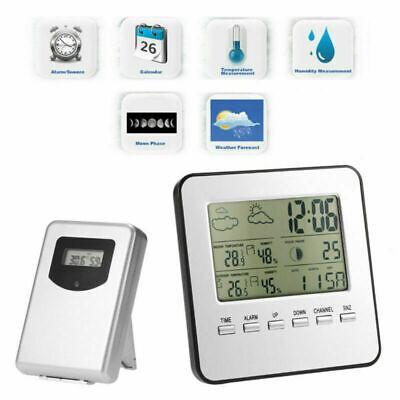 Funk Wetterstation Thermometer Hygrometer Barometer Uhr Wecker Mit Außensensor ()