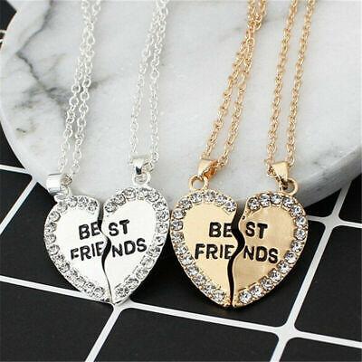 Fashion Cute Best Friend Chain Break Heart Pendant BFF Friendship Necklace Gift
