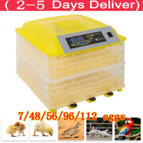 Egg Digital Automatic Incubator Chicken Poultry Hatcher Temperature Control