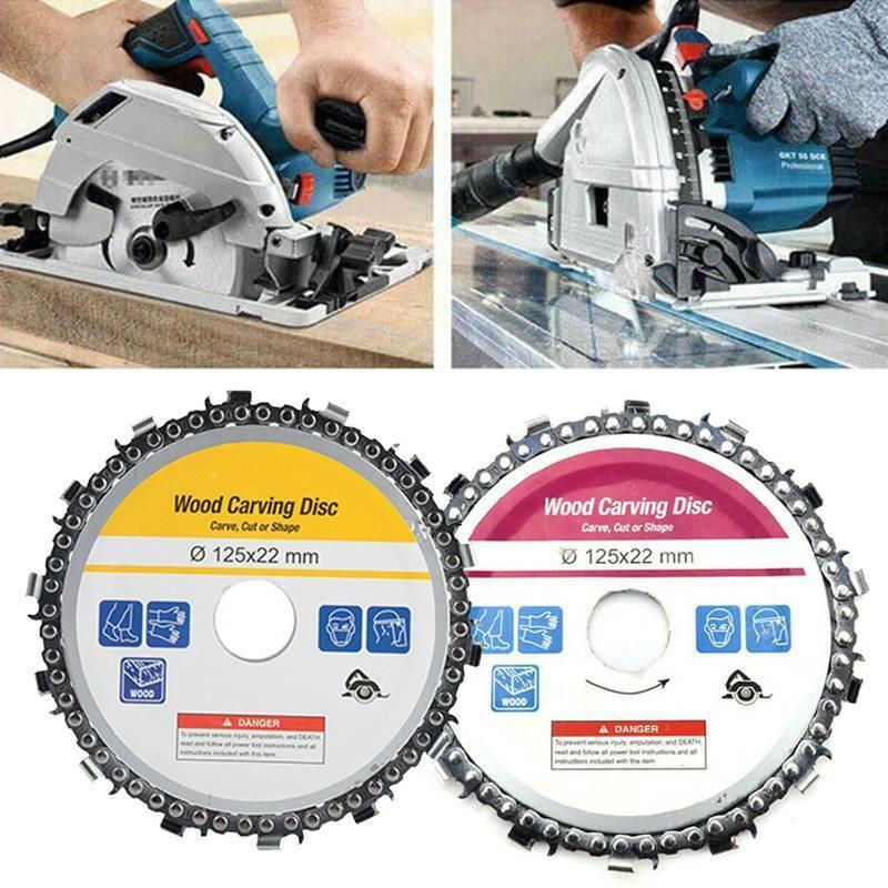 Für Winkelschleifer 14 Zahn Kettenscheibe Holzschnitzscheibe Kettenplatte 125mm