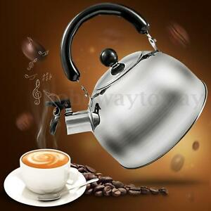 2L Stainless Steel Whistling Kettle Kitchen Caravan Camping Parts Accessory New
