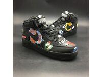 Nike Air Force Supreme x NBA x Nike Air Force 1 Mid Bull - Black