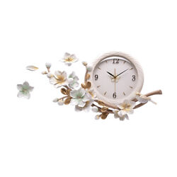 Wall clock Time piece Art Painting Flower Clock Fashion Resin Clock