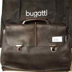 BUGATTI LEATHER BRIEFCASE / COMPUTER BAG  NEW (NEVER USED ) Cambridge Kitchener Area image 1