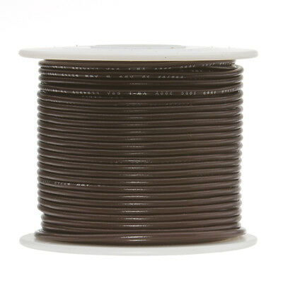 22 Awg Gauge Solid Hook Up Wire Brown 500 Ft 0.0253 Ul1007 300 Volts