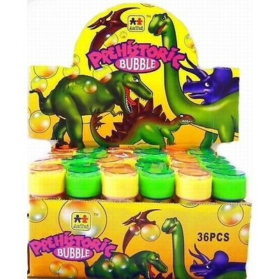 DINOSAUR BUBBLES KIDS PARTY BAG FILLERS WITH WAND & MAZE GAME 60ML