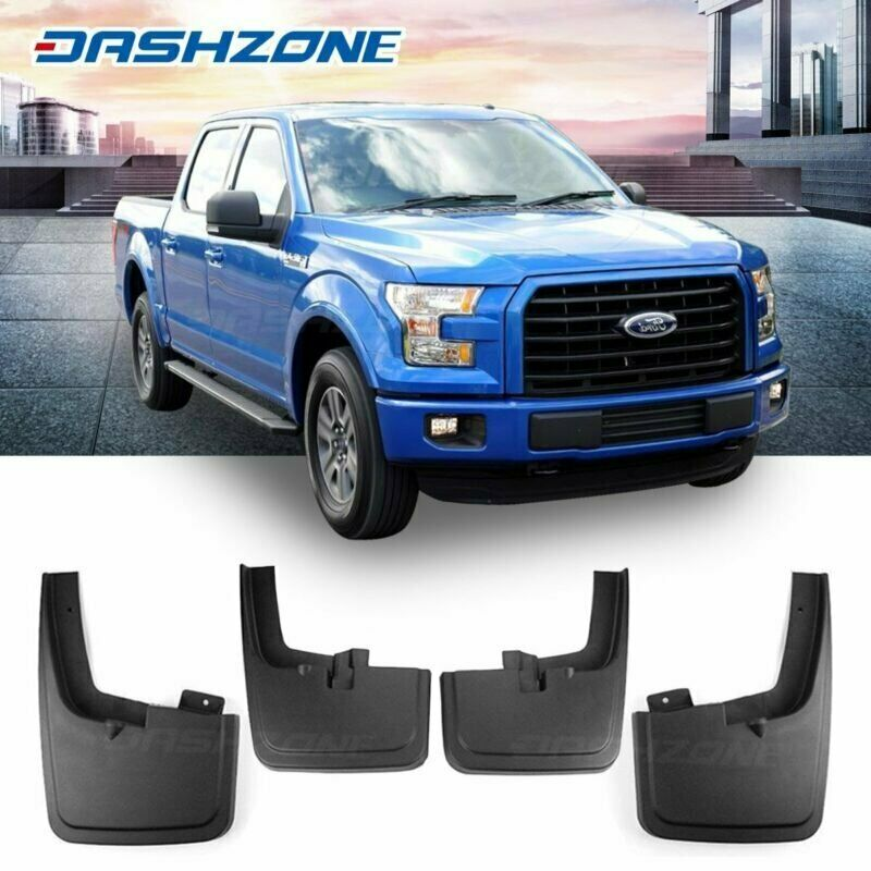 4PC Front Rear Splash Mud Guards Flaps For 04-14 Ford F150 W//O Wheel Lip Flare