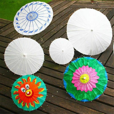 Funny Bamboo Paper Umbrella Parasol Wedding Party Dancing Bridal Decor DIY Gift