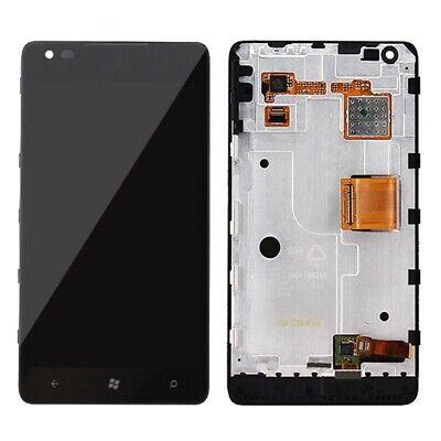 Pantalla Para Nokia Lumia 900 Display + Tactil + Carcasa Color Negro