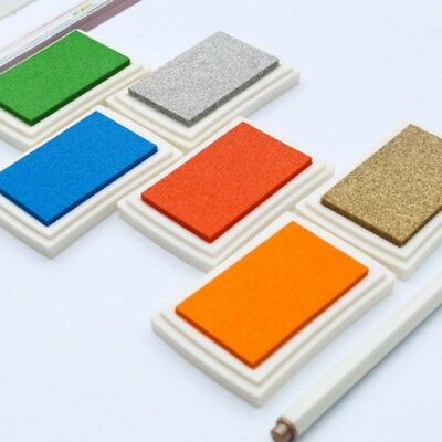 USA Large Rubber Stamps Craft Pigment Ink Pad For Paper Wood Fabric Crafts Hot (Large Stamp Pads)