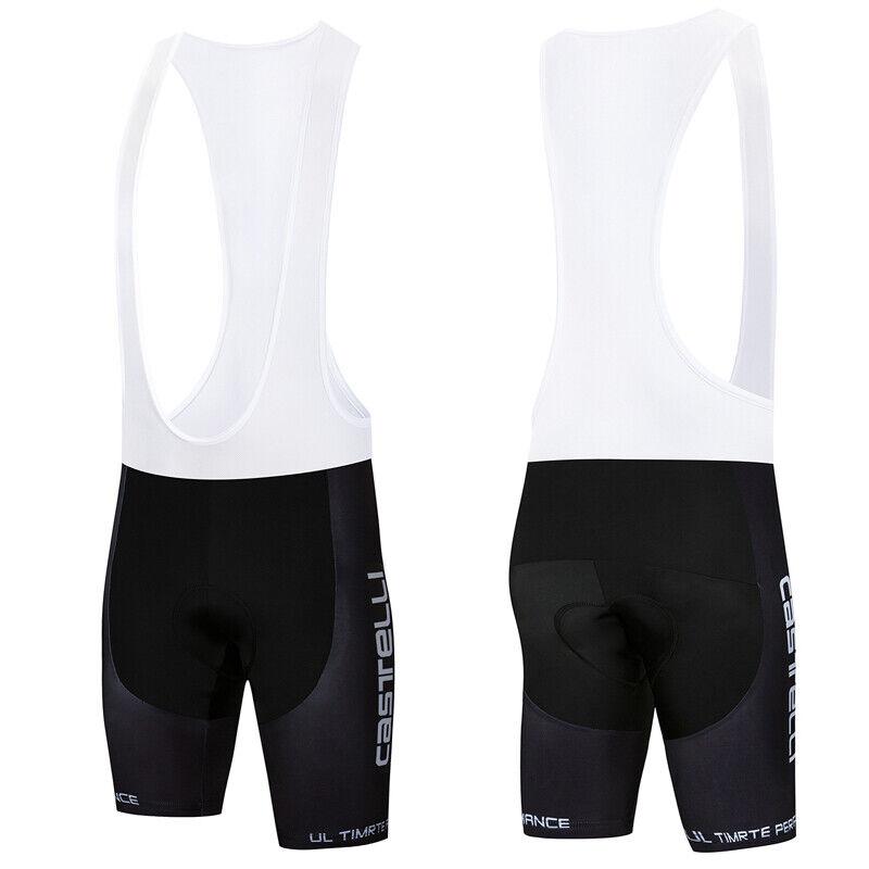 Mens Black Cycling Bibs Padded Shorts Bike Racing Brace Bott