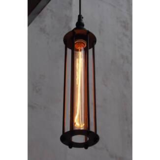 Antique light pendants in sydney region nsw ceiling lights vintage black cage pendant ceiling light bar new aloadofball Image collections