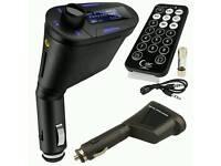 Wireless USB Car Music MP3 Player Modulator FM RadioTransmitter SD Card Slot