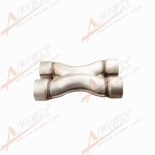 """Universal Aluminized Steel Exhaust Crossover X Pipe 2.25""""/2.5""""/3"""" Inlets&Outlet"""