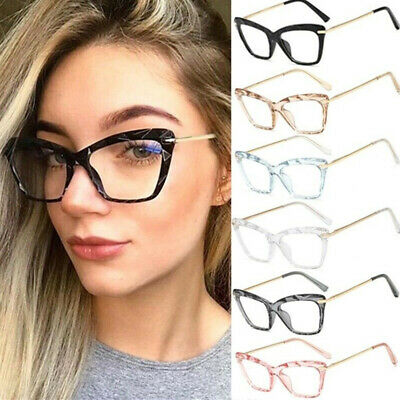 Vintage Cat Eye Women Optical Frames Clear Lens Retro Spectacle Computer (Clear Spectacle Frames)