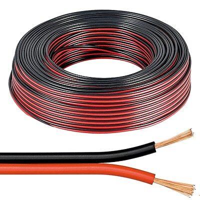 (0,74€/m)10m Zwillingslitze 2x0,5mm² ROT-SCHWARZ / Lautsprecherkabel Kabel Litze