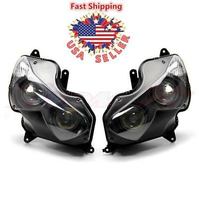 Black Motorcycle Headlight Head Light Lamp For Kawasaki Ninja ZX-14R 2012 - 2014