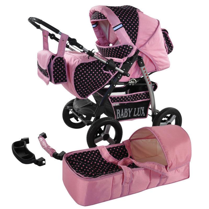 kombi kinderwagen largo set mit babyschale und luftreifen. Black Bedroom Furniture Sets. Home Design Ideas