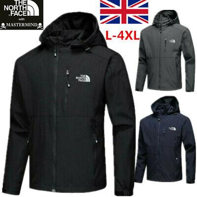 Men Outdoor Coat Hooded Jacket Waterproof Windproof Outerwear Windbreaker