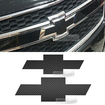 Front Rear Black Carbon Emblem Badge Decal Sticker For CHEVROLET 2012-16 Malibu