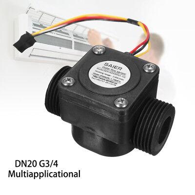 60lmin Water Flow Meter Sensor Dn20 G34 Dc 5v Fluid Flowmeter Counter Switch