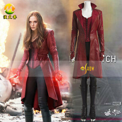 Captain America 3 Civil War Scarlet Witch Wanda Maximoff Cosplay Costume - Wanda Maximoff Costume