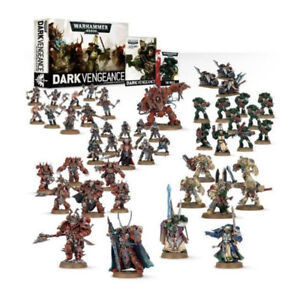 Warhammer 40K Dark Vengeance set with paints and brushes