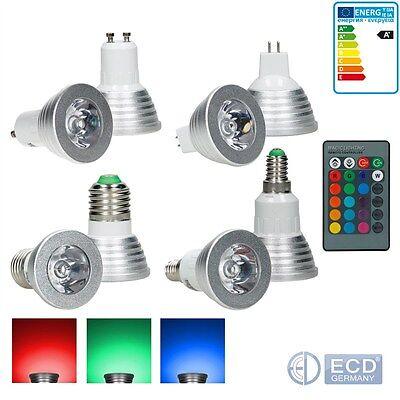 GU10/E27/MR16/E14 3W RGB LED Spot Birne Farbwechsel IR Fernbedienung Lampe Licht online kaufen