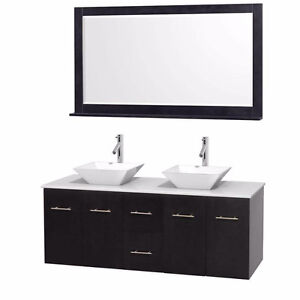 "60"" Wall Mounted Bathroom Vanity **includes everything**"