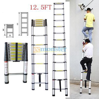 12.5ft Aluminium Multi-purpose Telescopic Ladder Extension Foldable Steps En131