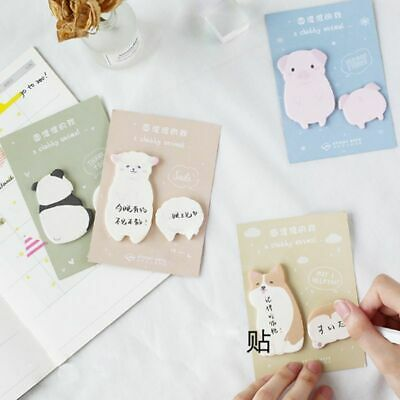 1pc Fat Little Animal Weekly Plan Sticky Notes Post Memo Pad School Supplies