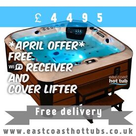 East Coast hot tubs 5 or 6 seater spa. APRIL OFFER FREE WIFI MODULE AND COVER LIFTER