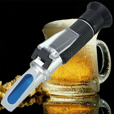 0-32% Brix Sugar Wine Beer Fruit Scale Refractometer Alcohol Meter Test Tool Set