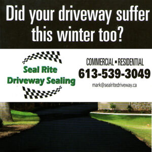 SEAL RITE DRIVEWAY SEALING....WE ARE LOCAL