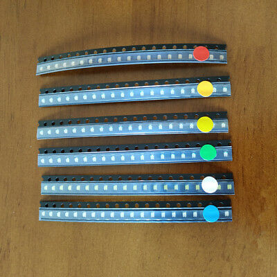 Smd Led Diode Kit 6color X 50pcs300pcs 1206 Redgreenblueyellowwhiteorange