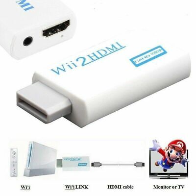 Wii Input to HDMI 1080P HD Audio Output Converter Adapter Cable 3.5mm...