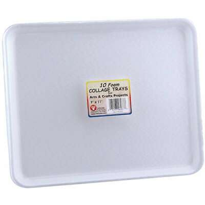 Foam Collage Trays 9X11 10/Pkg-White