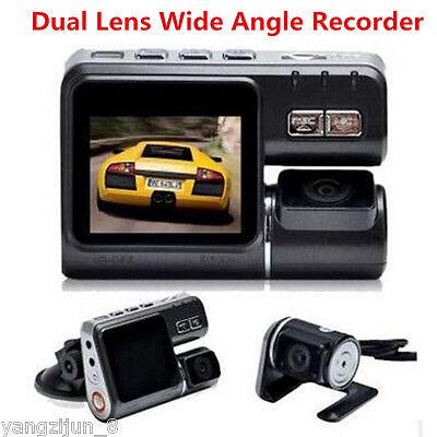 Wide Angle Hd 1080P Dual Lens Camera Car Dvr Dash Cam Video Recorder G Sensor