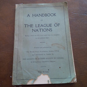 Handbook League of Nations, 1920-1923, World Peace Foundation