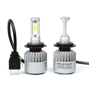 2-x-H7-525-8000LM-LED-CREE-Luz-Kit-Faro-Delantero-Coche-Lamparas-De-Haz-Luces