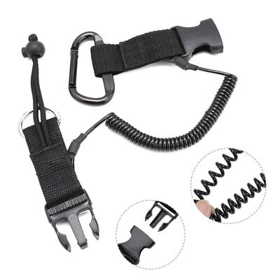 US Nylon Scuba- Diving Dive Spring Coil Camera Lanyard Quick Release Buckle - Camera Spring