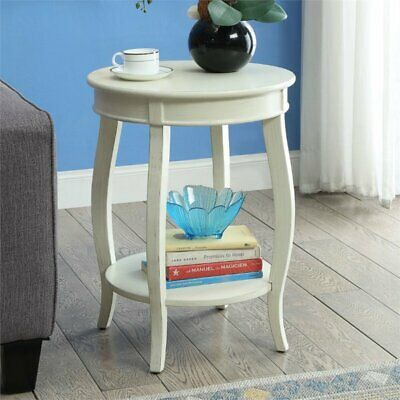 Bowery Hill End Table in Antique White White Antique End Table