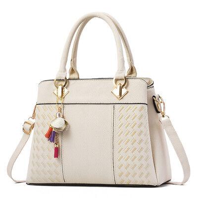 Women Handbag Faux Leather Ladies Tote Cross Body Shoulder Bag Purse Satchel - Mint Purse