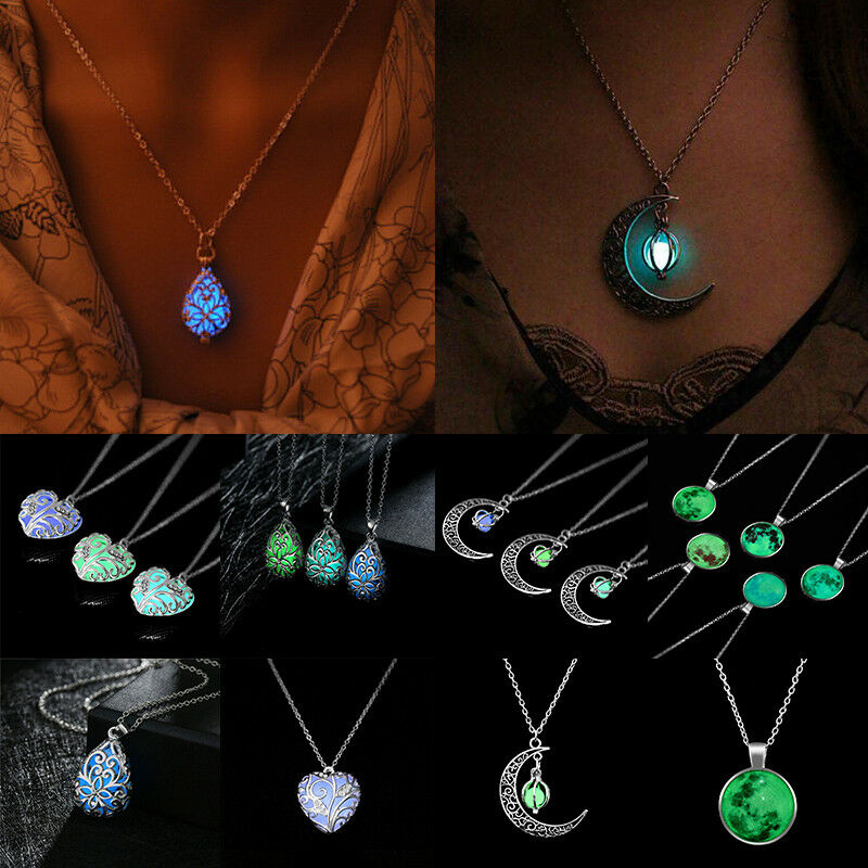 Unusual Friendship Gift Glow In The Dark Cord Necklace Glowing Pendant Magic Card Luminous Charm Jewellery Magical Necklace