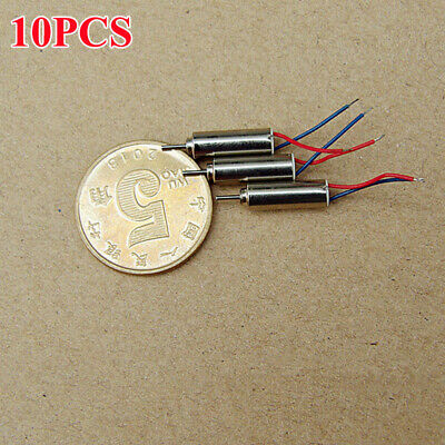 10pcs 4mm12mm Dc3v 3.7v 53000rpm Ultrahigh High Speed Micro Mini Coreless Motor
