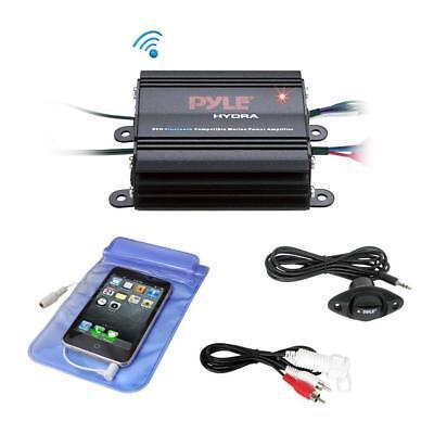 Pyle PLMRMB2CB Bluetooth Marine Amplifier Kit, 2-Ch. Waterproof Audio Power Amp
