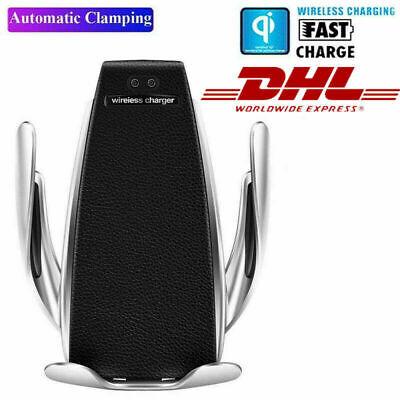 Qi Auto Wireless Charger Handy Halterung Induktions Ladegerät Clamping  KFZ DHL Wireless Halterung